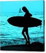 Surfs Up Blue Canvas Print