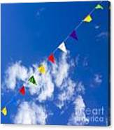 Suspended Festive Flags. Canvas Print