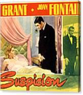 Suspicion, Joan Fontaine, Cary Grant Canvas Print