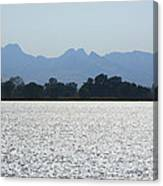 Sutter Buttes And Flooded Rice Field Canvas Print
