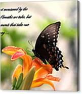 Swallowtail Card Canvas Print