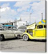 Swap Meet Plymouth And Chevy  Canvas Print