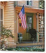 Swedish American Home Canvas Print