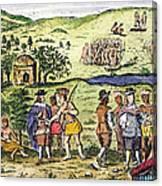 Swedish Colonists, 1702 Canvas Print
