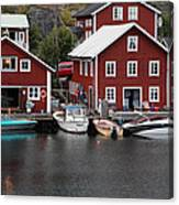 Swedish Fishing Village Canvas Print