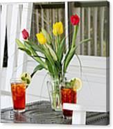 Sweet Tea And Tulips Canvas Print