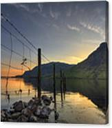 Sweet Wave Of Sunset Canvas Print