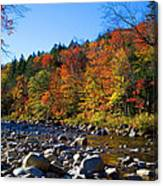 Swift River In Autumn Canvas Print