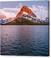 Swiftcurrent Lake At Dawn Canvas Print