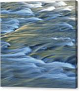 Swiftly Rushing Water In A Stream Canvas Print