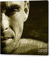 Swimmer In Water Canvas Print
