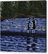 Swimming At The Res Canvas Print