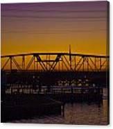 Swing Bridge Sunset Canvas Print