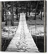 Swinging Cable Foot Bridge Canvas Print