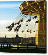 Swings At Sunset Canvas Print
