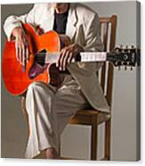 Syd Kitchen And His Gretsch Guitar Canvas Print