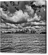 Sydney-black And White Canvas Print