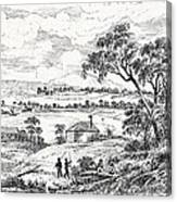 Sydney Cove, Australia, Circa 1790 Canvas Print