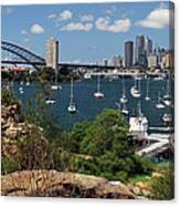 Sydney From Blues Point Canvas Print