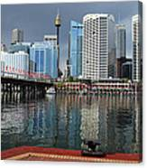 Sydney From Darling Harbour Canvas Print