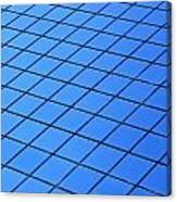 Symmetrical Pattern Of Blue Squares Canvas Print