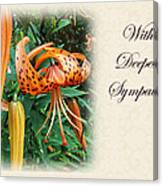 Sympathy Greeting Card - Wildflower Turk's Cap Lily Canvas Print