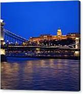 Szechenyi Bridge In Budapest Canvas Print