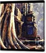 Ta Prohm Khmer Temple In Cambodia Canvas Print