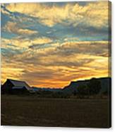 Table Rock Sunset And Barn Canvas Print