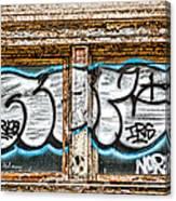 Tagged Window Canvas Print