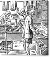 Tailors, 16th Century Canvas Print