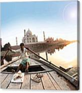 Taj In Sun Light Canvas Print