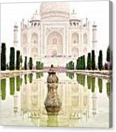 Taj Mahal On The Vertical Canvas Print