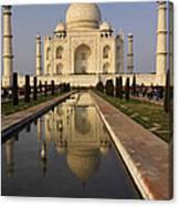 Taj Mahal Reflection Canvas Print