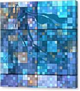 Take Me Geometric Blue Canvas Print