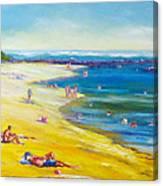Taking It Easy At Coloundra Beach Queensland Australia Canvas Print