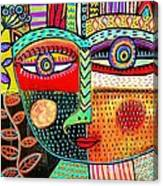 -talavera Owl Goddess Canvas Print