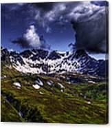 Talkeetna Mountains In Summer Canvas Print
