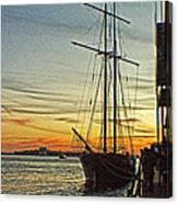 Tall Ship In Manhattan Canvas Print