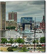 Tall Ships At Baltimore Inner Harbor Canvas Print
