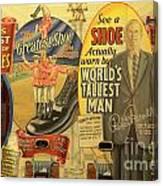 Tallest Man Sign Canvas Print