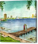 Tampa Fl Little Pier At Ballast Point Canvas Print