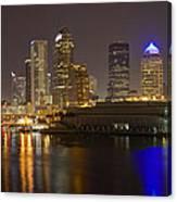 Tampa Nighttime Skyline Canvas Print