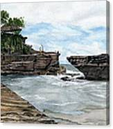 Tanah Lot Temple II Bali Indonesia Canvas Print