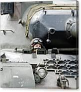 Tank Driver Of A Belgian Leopard 1a5 Canvas Print