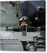 Tank Driver Of A Leopard 1a5 Mbt Canvas Print