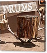 Taos Drum Shop Canvas Print