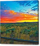 Taos Sunset Ix Canvas Print
