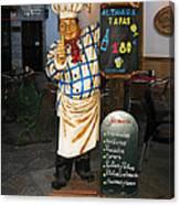 Tapas Man In Spain Canvas Print