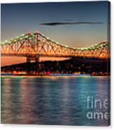 Tappan Zee Bridge Twilight I Canvas Print